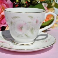 Royal Burlington Pink Beauty Teacup and Saucer c.1960s