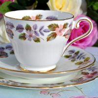 Aynsley April Rose English Fine China Teacup Trio