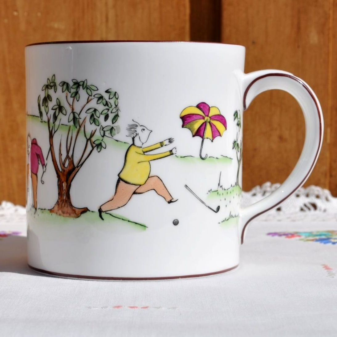 Golfers One Pint Bone China Tea Mug