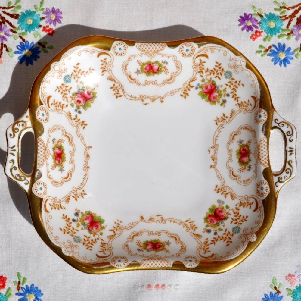 Royal Albert Hand Painted Biscuit Tray c.1927+