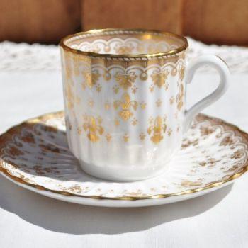 Spode Fleur De Lys Mini Coffee Can and Saucer