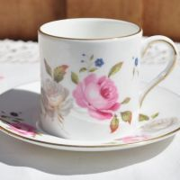 Royal Worcester Marissa Demitasse and Saucer c.1970s