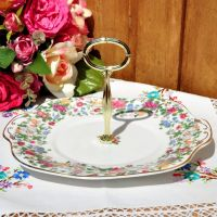 Thousand Flowers Handled Cake Plate