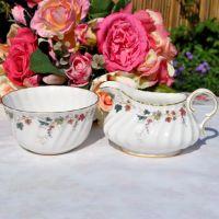Royal Doulton Canterbury Milk Jug and Sugar Bowl