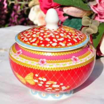 Veronique Lidded Bone China Sugar Bowl