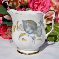 Queen Anne Blue Harebell Pattern Milk Jug