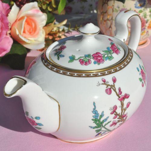 Aynsley Indian Tree Fine China Teapot