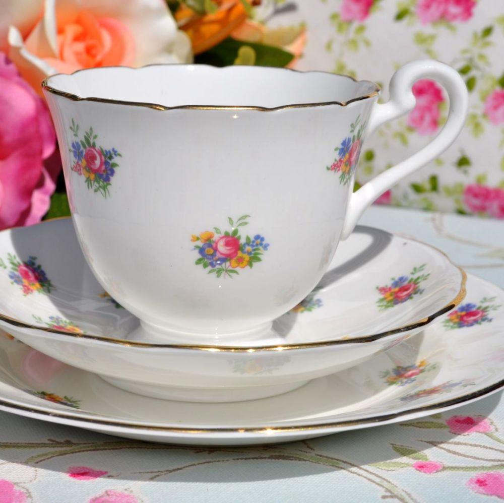 Radfords Ditsy Floral Sprays Vintage Tea Trio