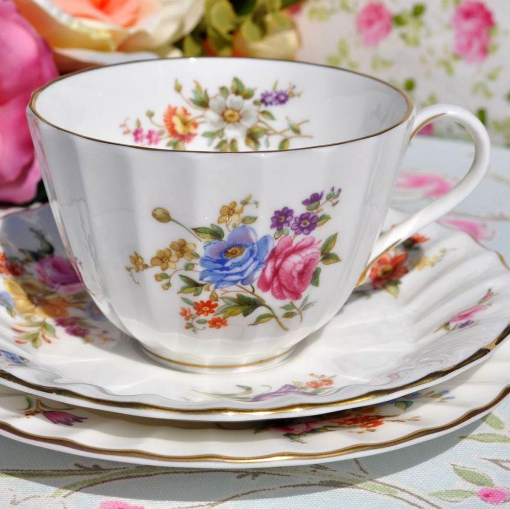Royal Worcester Roanoke Fine China Tea Trio
