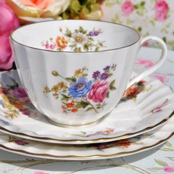Royal Worcester Roanoke Vintage China Teacup, Saucer, Tea Plate Trio