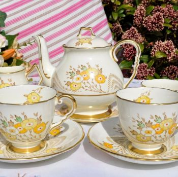 Thomas Poole Royal Stafford Art Deco Tea for Two Set with Teapot