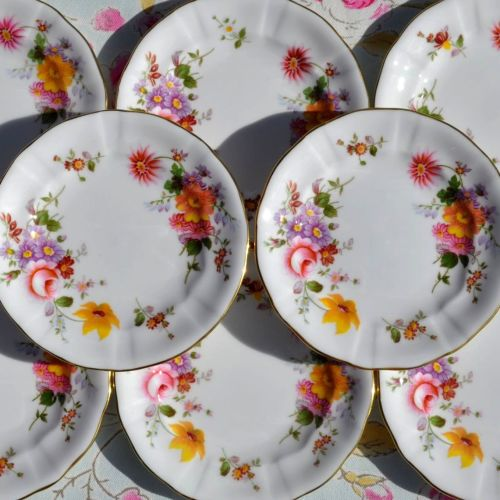 Royal Crown Derby, Derby Posies Tea Plates
