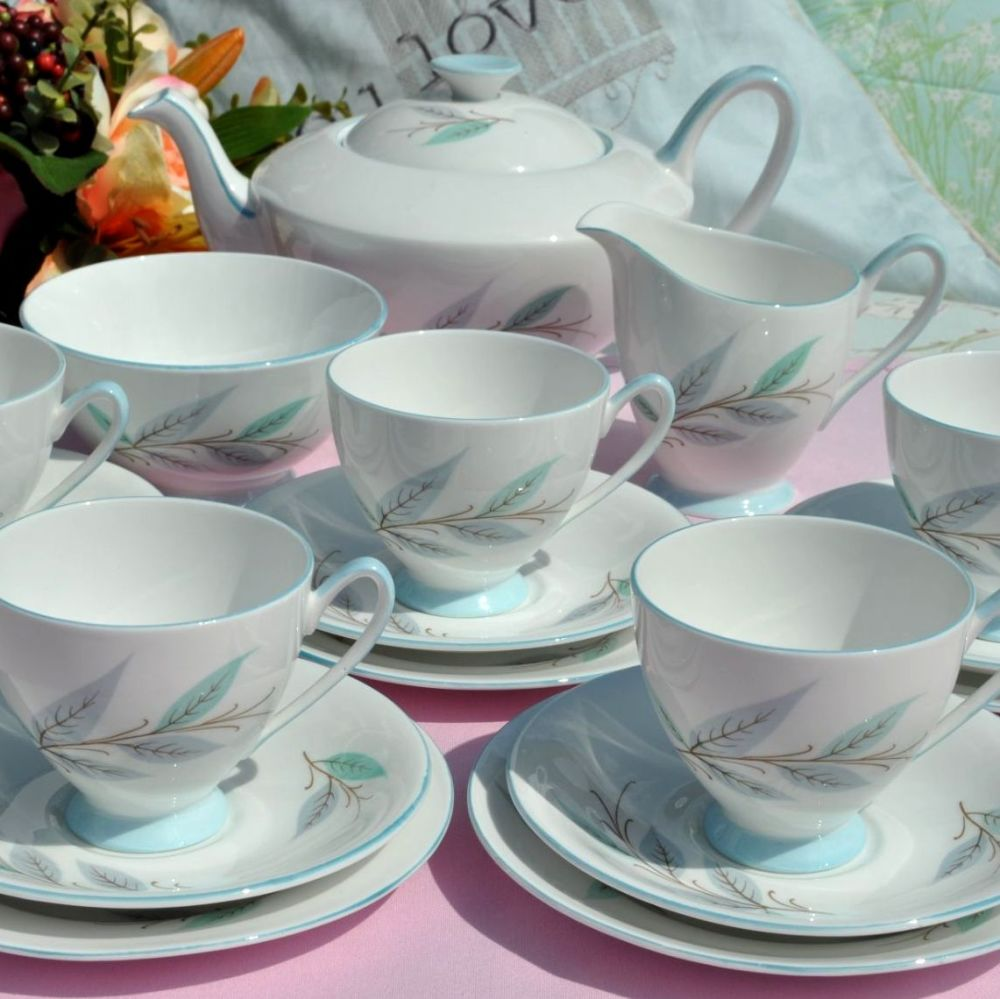 Royal Standard Duck Egg and Tea Set with Teapot c.1950s