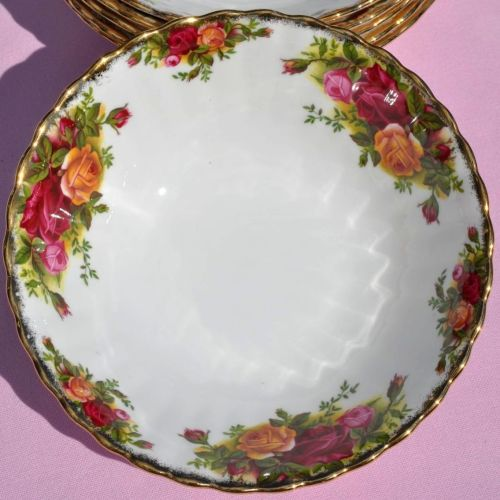 Royal Albert Old Country Roses Dessert First Edition Bowls Set