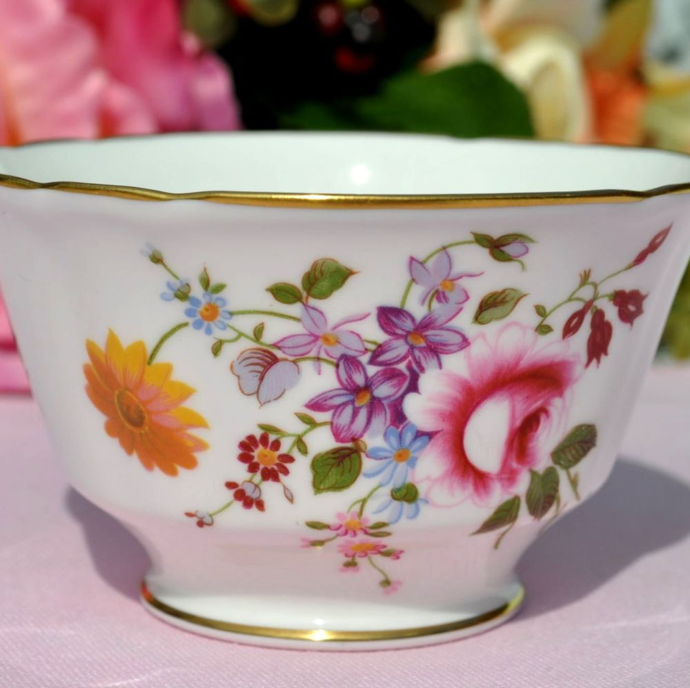 Royal Crown Derby Posies Small Open Sugar Bowl
