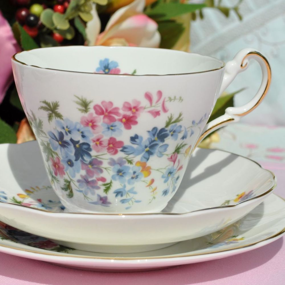 Regency pretty floral tea trio