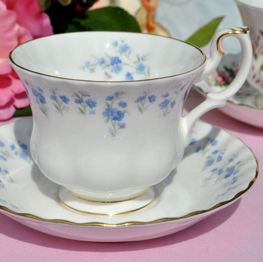 Royal Albert Memory Lane Bone China Teacup and Saucer c.1970s