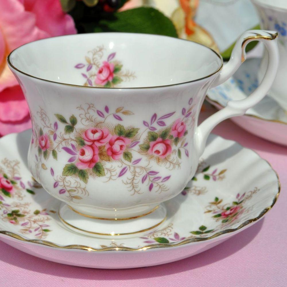 Royal Albert Lavender Rose vintage teacup and saucer c.1961+