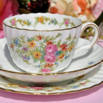 Minton Lorraine Vintage Tea Cup, Saucer and Tea Plate c.1950