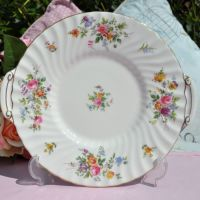 Minton Marlow Quality Floral Bone China Cake Plate In Pristine Condition c.1950's