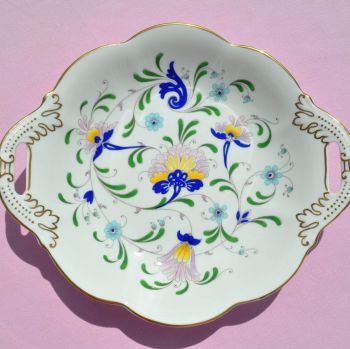 Coalport Pageant Hand Painted Vintage China Biscuit Tray c.1960s