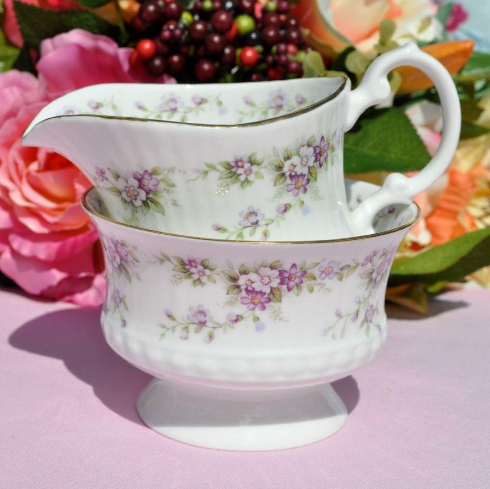 Elizabethan Dainty Violets Milk Jug and Sugar Bowl
