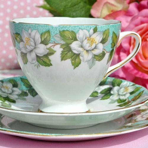 Gladstone Montrose vintage teacup trio
