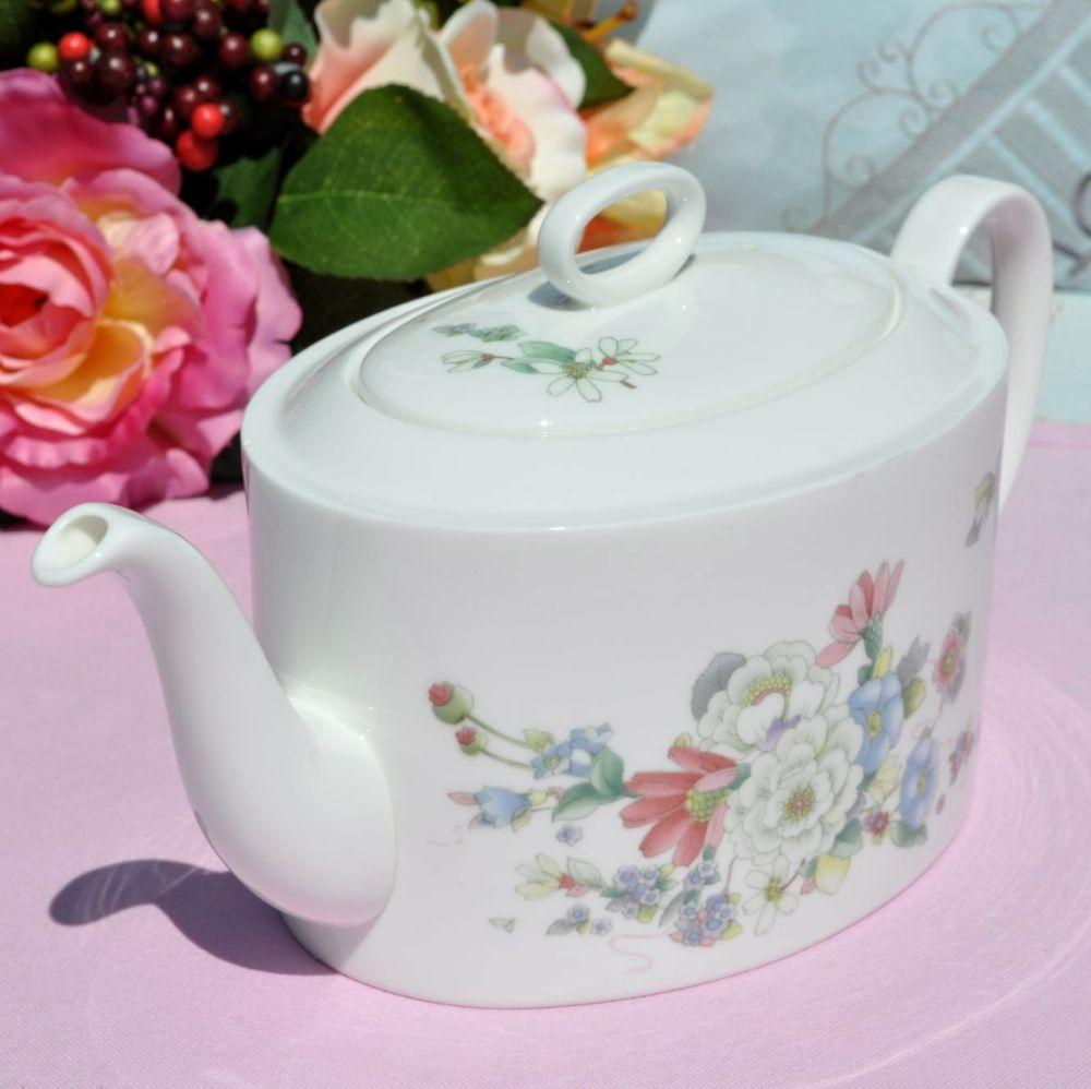 Wedgwood Lemon Tree Bone China 2 Pint Oval Shaped Teapot