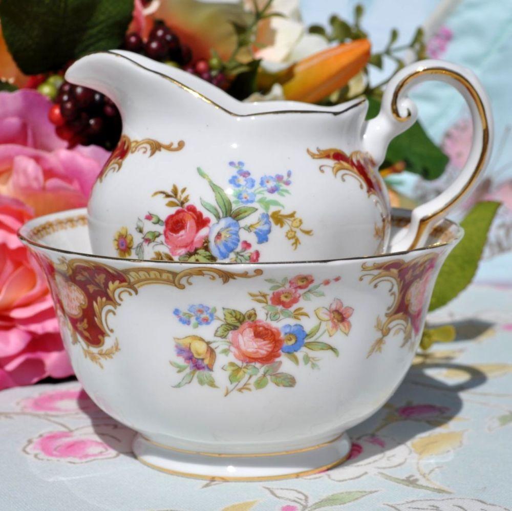 Tuscan Windsor vintage milk jug and sugar bowl
