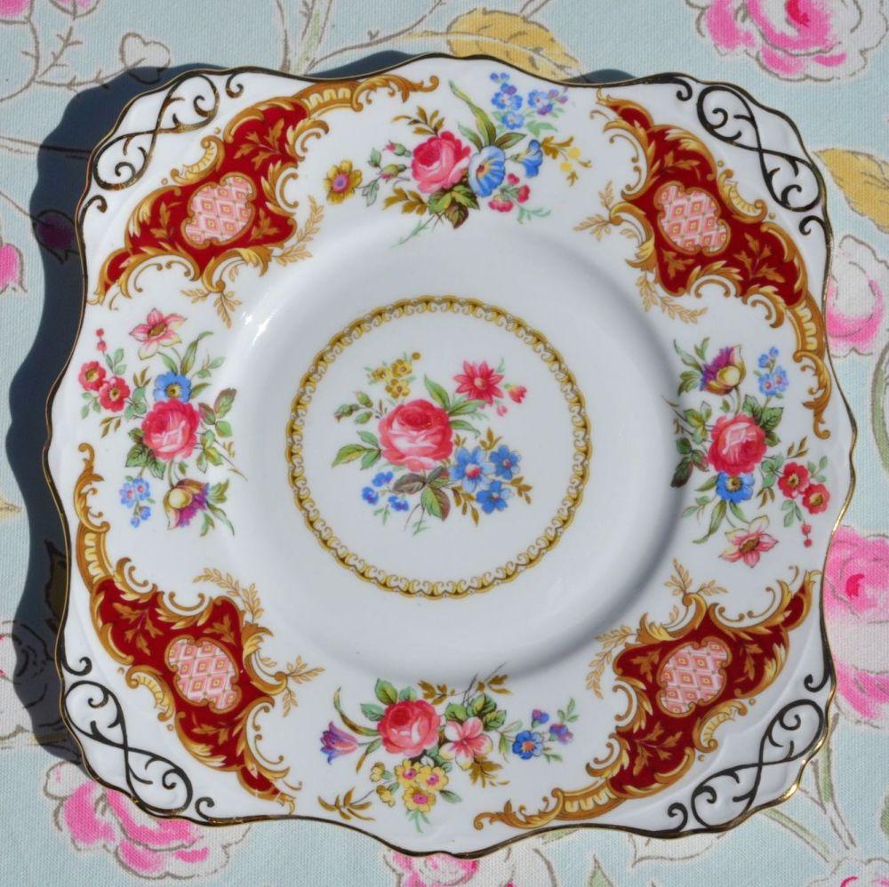 Tuscan Windsor Vintage Cake Plate c