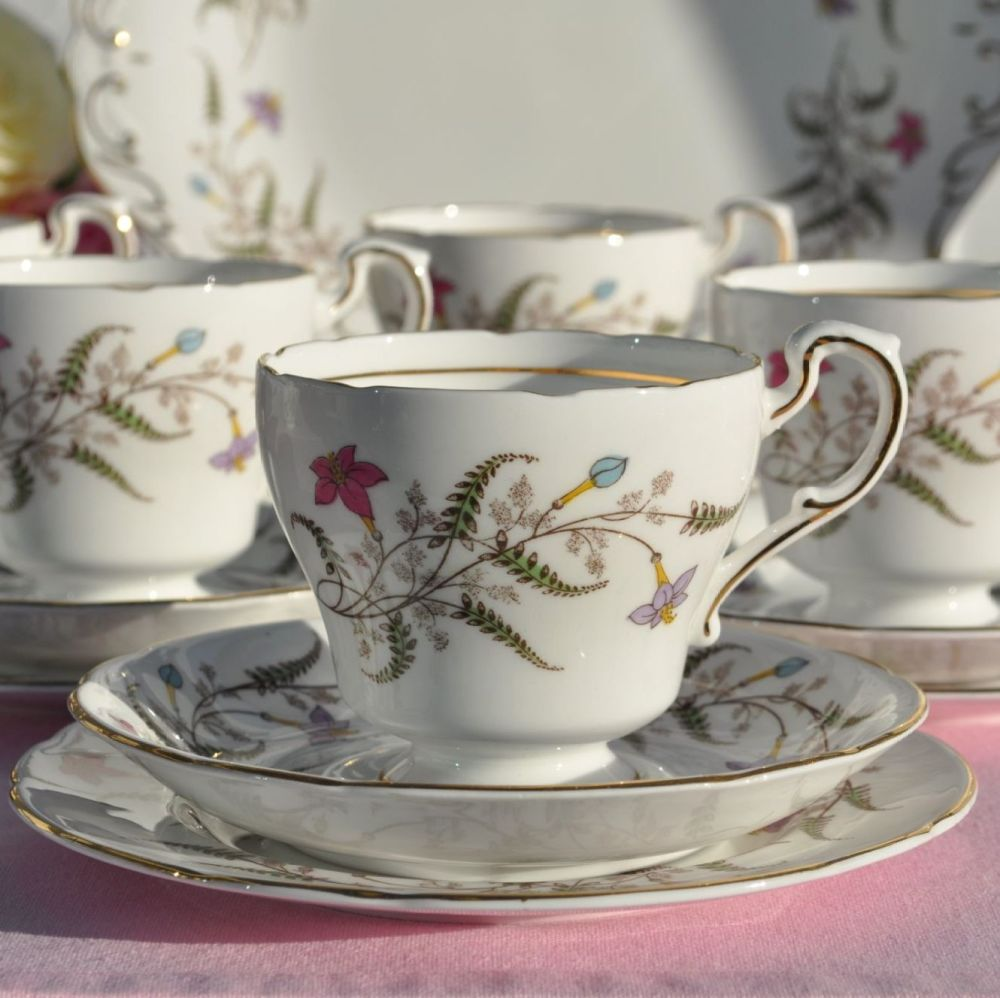 Paragon Fancy Free Fine Bone China 21 Piece Vintage Tea Set