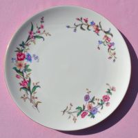 Wedgwood Devon Sprays Vintage China Cake Plate