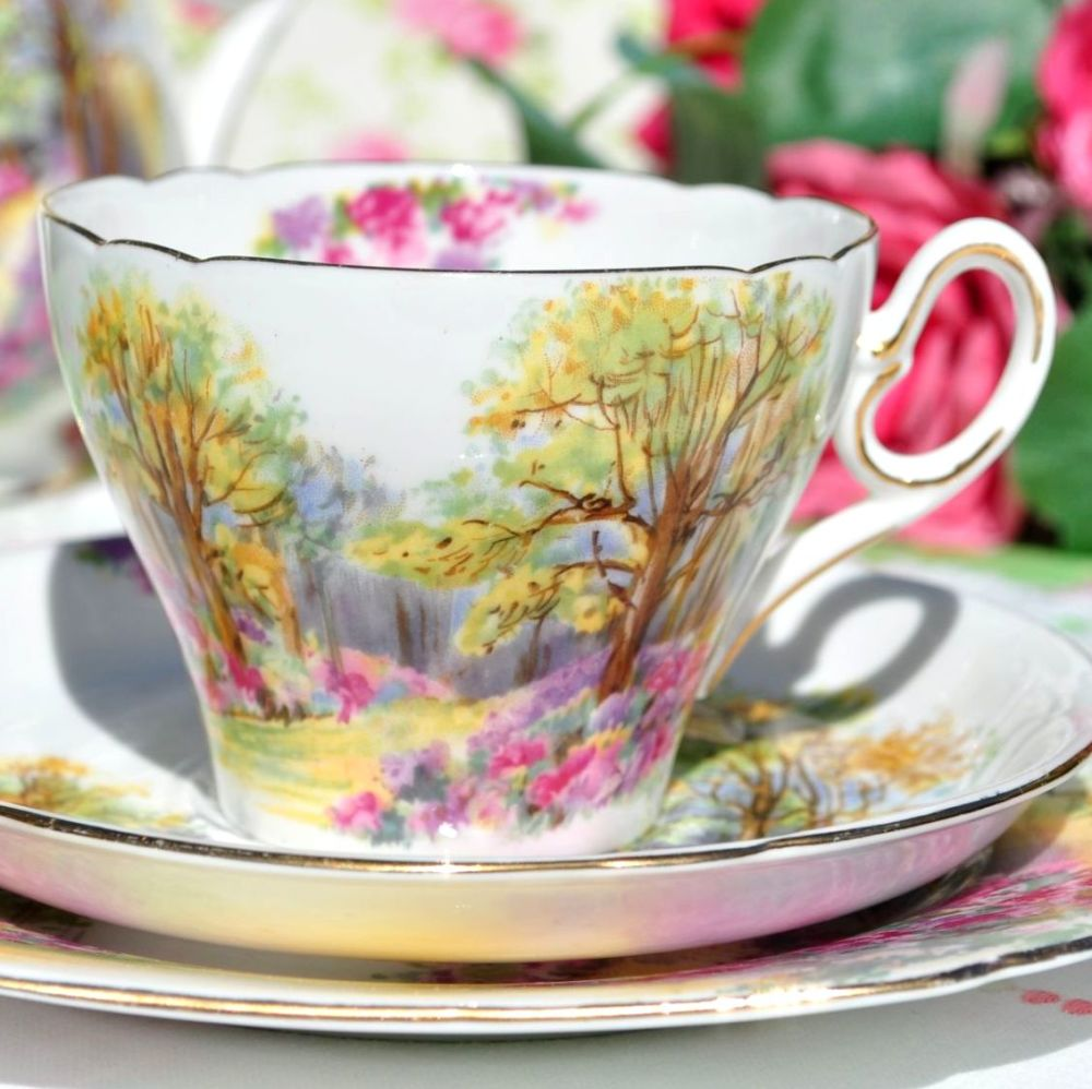 Shelley Englands Charm Ideal 0188 China Teacup Trio c.1937
