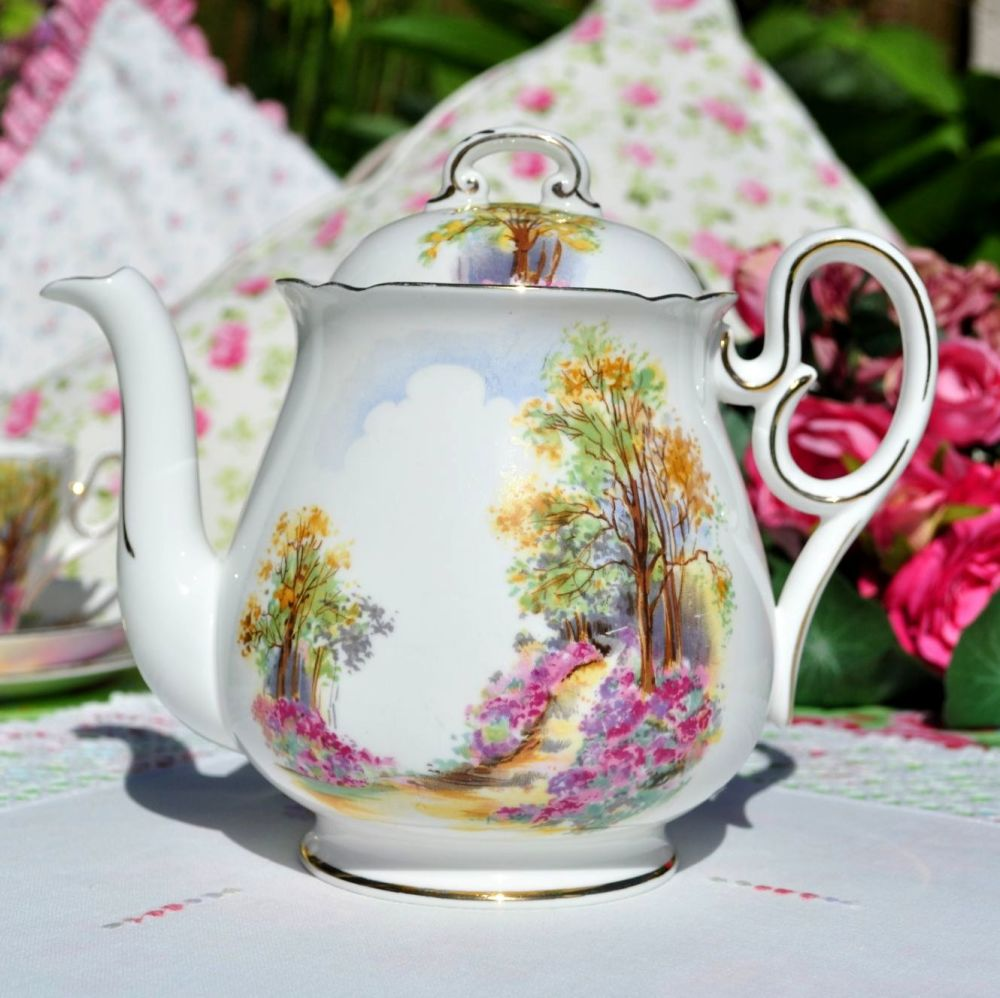 Shelley Englands Charm Ideal 0188 China Teapot c.1937