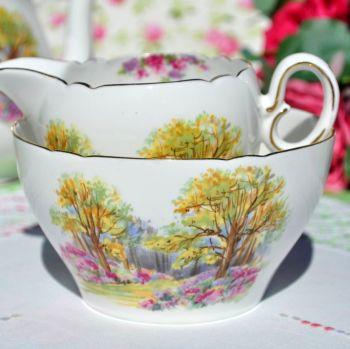 Shelley Englands Charm Ideal 0188 China Milk Jug & Sugar Bowl c.1937