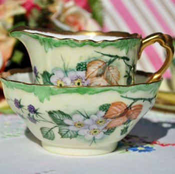 Paragon Bramble Hand Painted Milk Jug & Sugar Bowl with 22Kt Gilding. c.1940s