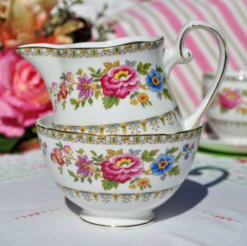 Royal Grafton Malvern Vintage Fine China Floral Milk Jug and Sugar Bowl