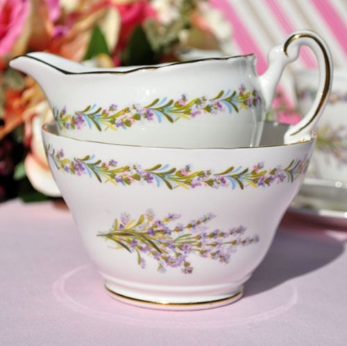 Regency Lavender Bouquet Milk Jug and Sugar Bowl