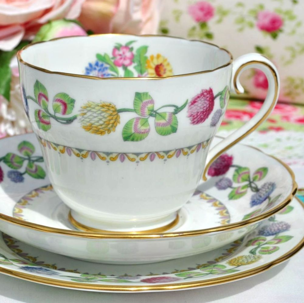 Adderley Meadowsweet Vintage Teacup Trio c.1950s