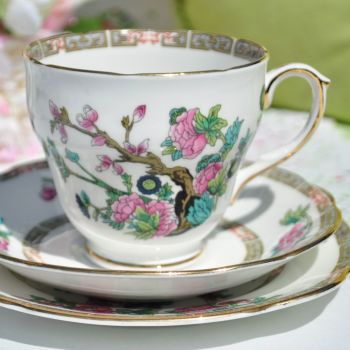 Duchess China Indian Tree Teacup Trio c.1950s