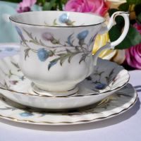 Royal Albert Brigadoon Tea Cup Trio c.1963+