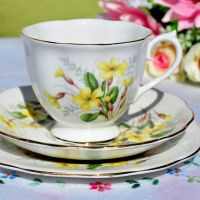 Royal Albert Primrose Teacup Trio c.1960s