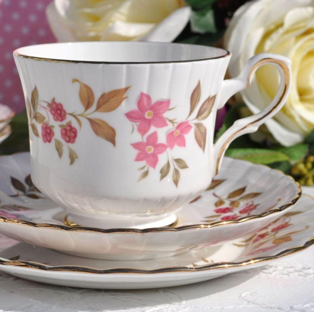 Royal Stafford Fragrance Vintage China Teacup, Saucer and Tea Plate Trio