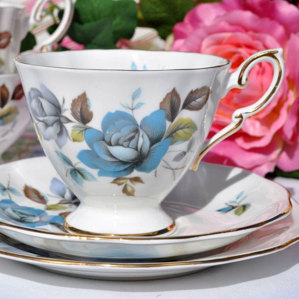 Royal Standard Blue Mist Vintage Teacup Trio