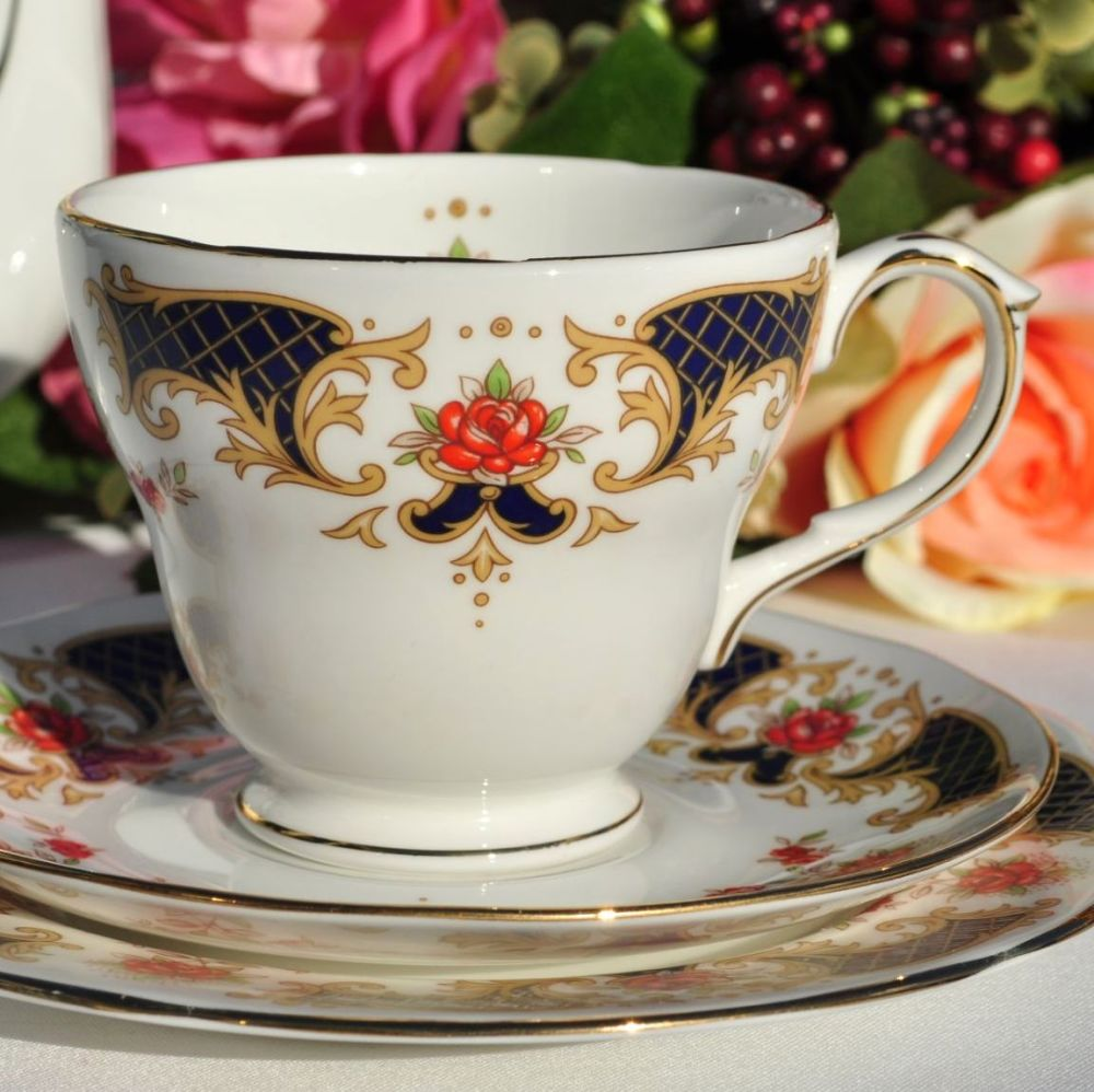 Duchess Westminster Vintage Bone China Teacup, Saucer, Tea Plate Trio