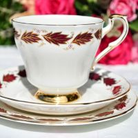 Paragon Elegance Vintage China Teacup Trio c.1950s