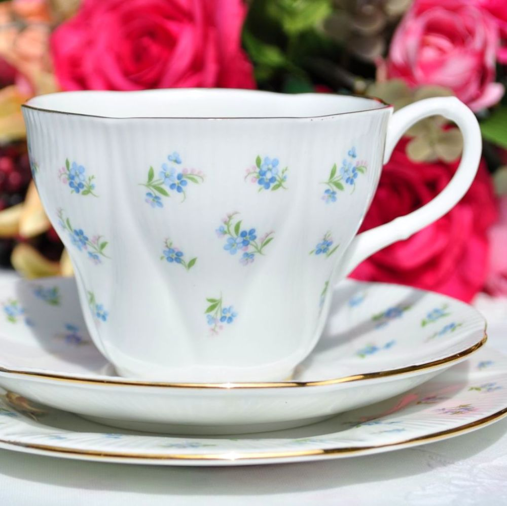 Royal Albert Blue Heaven Teacup Trio