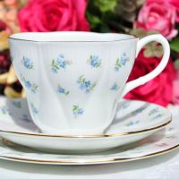 Royal Albert Blue Heaven Teacup Trio c.1960s