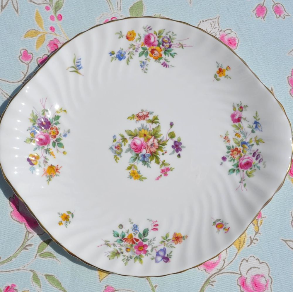 Minton Marlow Floral Cake Plate c.1950's