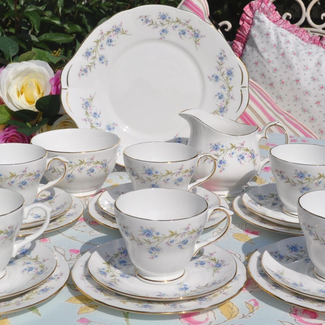Duchess Tranquility Vintage Bone China Tea Set for Six